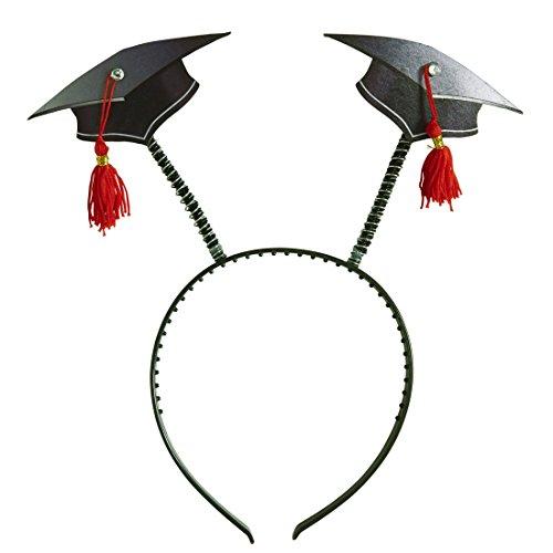 Amakando Akademiker Hut Abitur Abschlussfeier Kopfbedeckung am Haarreifen Doktor Absolventenhut Doktorhut Kostüm Accessoires Uni Diplom Kappe Bachelor Kopfschmuck
