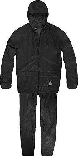 normani Unisex - Erwachsene Regenanzug (Jacke und Hose) - 100% wasserdicht Farbe Schwarz Größe L