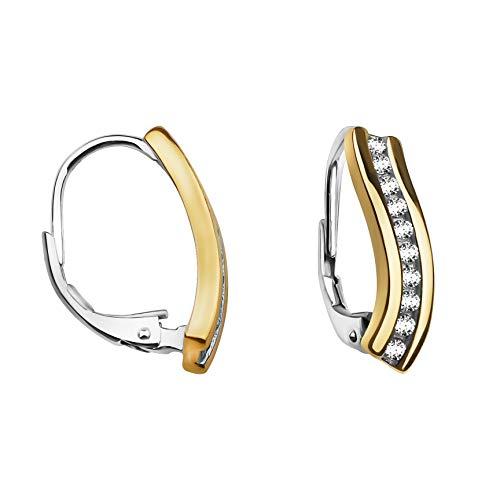 SOFIA MILANI Damen Creolen Bicolor Gold 925 Silber 20537