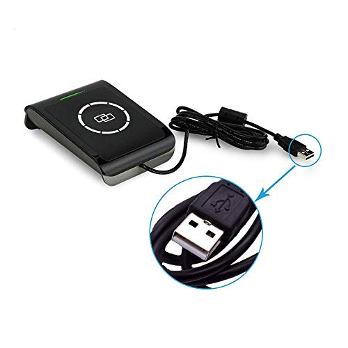 NFC RFID Lecteur de Cartes à puce Smart Card Reader Writer Contactless IC Cards Reader S9-CU-00-00 (Support ISO14443 Type A/B + ISO15693) + 2pcs M1 S50 Cartes + 2 pcs I-Code 2 Cartes+SDK