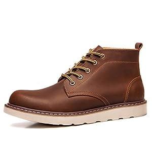 Hombres zapatos vestido escalar montañas otoño aire libre [fondo blando] botas resbalón encendido negro-marrón-marrón Longitud del pie=40EU