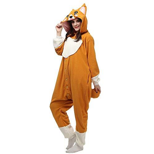 DUKUNKUN Weihnachten Halloween Hund Homewear Hoodie Schlafanzüge Nachtwäsche Robe Für Erwachsene Cartoon Party,S