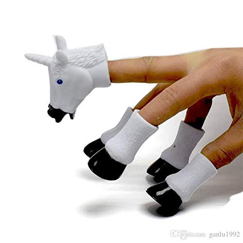 Aryshaa Handicorn, A Five-Piece Finger Puppet Set That Transforms Your Hand Into a Majestic Unicorn - (Pack of 1)