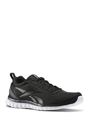 Homens Reebok Sublite Sapatos Esporte De Corrida Preto / Branco