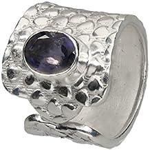 Iolith (blau) Ring, Größe verstellbar, Silber 925 nickelfrei