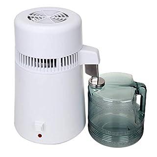 Paneltech Wasserdestille,4L 750W Profi Wasserdestillegergerät Edelstahl Wasserfilter mit Sammelkanne
