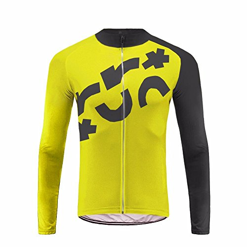 Uglyfrog Fahrradtrikot Langarm Thermo Radtrikot Pro/Windstopper/Atmungsaktiv/Reflektoren/Full Zip/Anti-Rutsch-Streifen for Winter