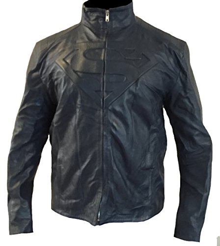 classyak da uomo super fashion Giacca in vera pelle di alta qualità Faux Navy Blue XXXXXL - Per petto 132,08 cm-137,16 cm