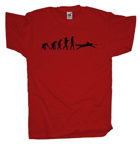 Ma2ca - Evolution - Schwimmer T-Shirt-rot-s (Lustige Schwimmer Tshirt)