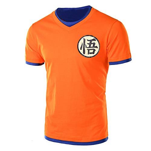 ouken Hombres de Dragon Ball Z Kame la Camiseta del símbolo con Cuello en V Camiseta de algodón para los Aficionados de Dragon Ball - Talla XXL