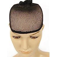 Preisvergleich für angewendet Schwarze Perücke Elastizität Strumpf Kappe zwei-Pass Perücke spezielle Haarnetz hohe Dichte