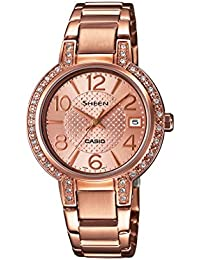 Casio Sheen Analog Rose Gold Dial Women's Watch - SHE-4804PG-9AUDR (SX130)