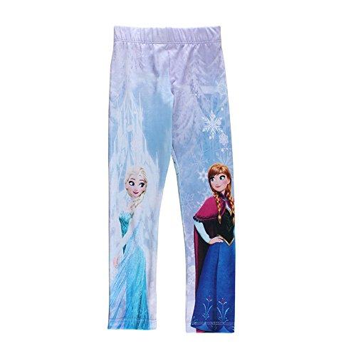 Disney ragazze frozen leggings, bianco, taglia 98, 3 anni
