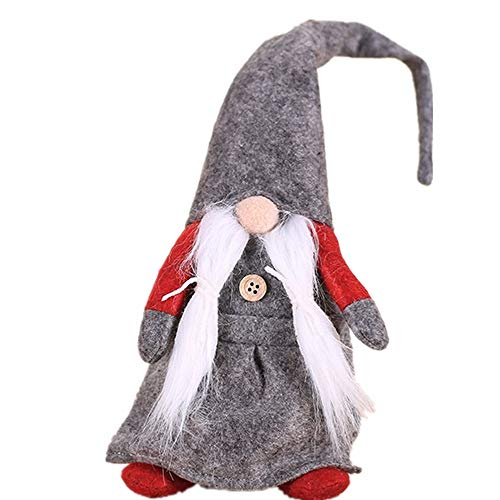 MokaHW Weihnachtsdekoration Für Zuhause Bärtige Weihnachtsmann Puppen