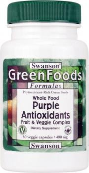 Swanson GreenFoods Purple Antioxidants Fruit & Veg Complex (400mg, 60 Vegetarian Capsules) by Swanson Health Products