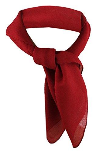 TigerTie Damen Chiffon Nickituch rot bordeaux Gr. 50 cm x 50 cm - Tuch Halstuch Schal (Chiffon-schal Der Frauen)