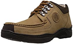 Redchief Mens Camel Leather Trekking and Hiking Footwear Shoes - 7 UK (RC1200 004)