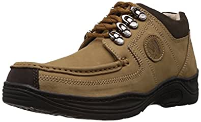 Redchief Men's Camel Leather Trekking and Hiking Footwear Shoes - 10 UK (RC1200 004)