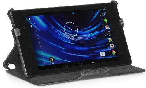 StilGut UltraSlim Case, Tasche für Google Nexus 7 HD 2013-2. Generation, Schwarz