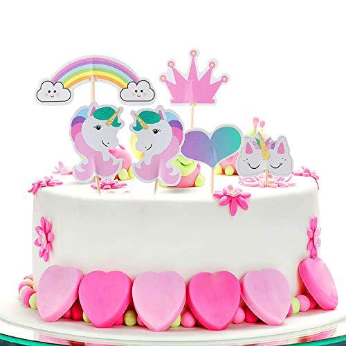 - ¡Perfecto para cualquier fiesta de unicornios!   Pasteles, tartas, cupcakes, cake pops y muffins se decoran de forma rápida y sencilla con decoraciones.  Incluso el helado y los postres se transforman en golosinas coloridas en un instante.  Unico...