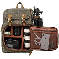 DSLR Camera Sac à Dos en Toile de Grande Capacite Avant Ouverte étanche Antichoc SLR/DSLR Camera Sac à Dos Camera Sac de Voyage Sac de caméra Professionnelle