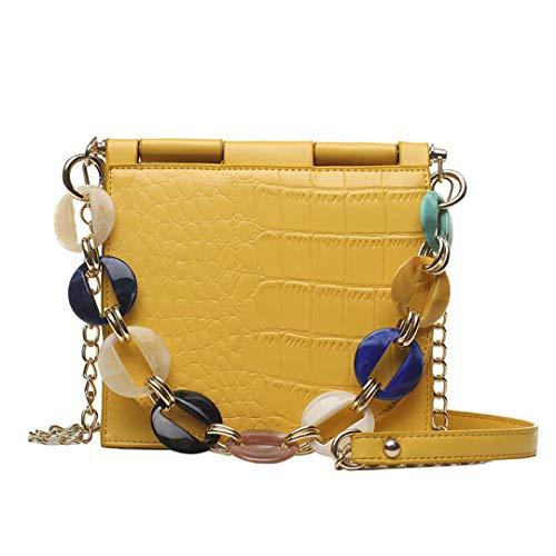 Frauen Taschen Designer New Pu Leder Frauen Tote Bag Alligator Schulter Crossbody Taschen Yellow