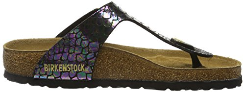 Birkenstock Gizeh, Tongs Femme Multicolore (Shiny Snake Black Multi)
