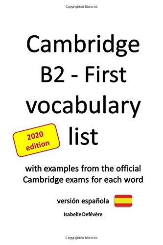 Cambridge B2 - First vocabulary list versión española