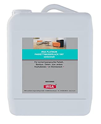 1 Liter IRSA 1K Wasserlack 1007 für Parkett, Holz, Bodendielen