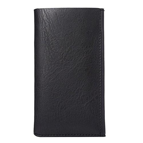 Phone case & Hülle Für IPhone 6s Plus, Samsung Galaxy S6 Edge + / Note 5 / Mega 6.3, 5.7 - 6.5 Zoll Universal Elephant Texture Tragetaschen mit Wallet & Card Slots ( Color : Brown ) Black