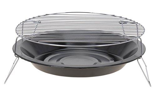 41aRRerLRvL - Trendkontor BBQ Mini Grill 36 cm Ø Camping Tragbarer Rundgrill
