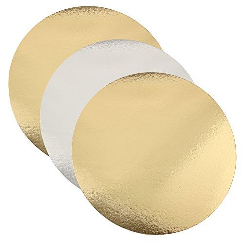 Autour du gateau - Pâtisserie et évênements - Lot de 3 semelles à gâteaux ronde 35 cm