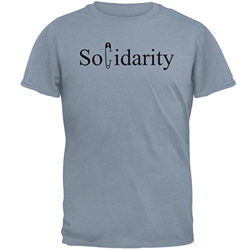 Sicherheitsnadel-Solidarität-Herren-T-Shirt Stone Blue