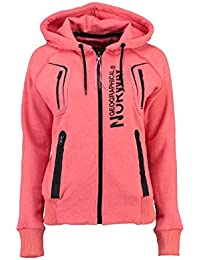Geographical Norway - Sweat à capuche Femme Geographical Norway Gosepha Corail
