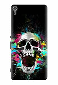 Noise Designer Printed Case / Cover for Sony Xperia XA Dual / Animated Cartoons / Tinted Skull