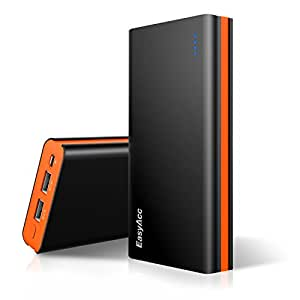 EasyAcc 15000C-BO - power banks (Lithium Polymer (LiPo), DC, Black, Orange, Acrylonitrile butadiene styrene (ABS), Polycarbonate, Universal, Micro-USB)
