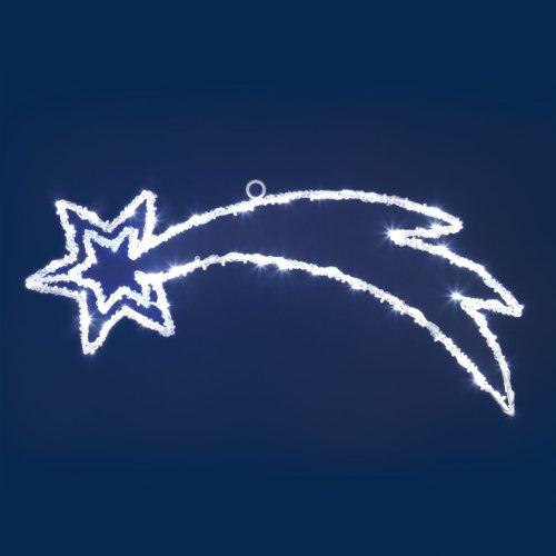 Importex-LED-Stern, Komet, 80LED, Farbe: weiß und blau, 4Meter