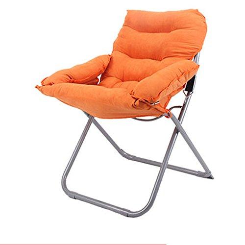Chaises pliantes Fauteuils inclinables Fauteuils de loisirs Fauteuils inclinables Fauteuils pliants Chaises pour dortoirs pour étudiants (Couleur : Orange)