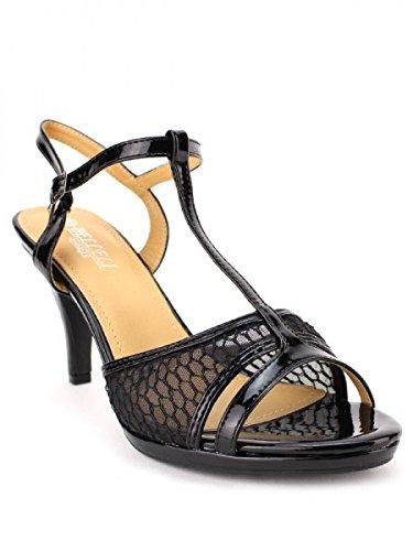 Cendriyon, Sandale dentelle Noire BELNI Chaussures Femme Noir
