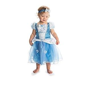 Disney Princesas Disfraz Cenicienta lujo, talla 12-18 meses, color azul (Travis Designs DCPRCIN012)