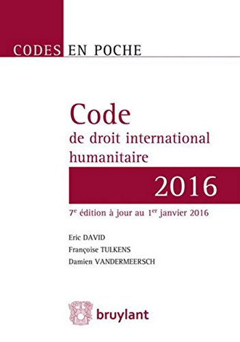 Code de droit international humanitaire