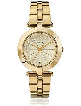 Timex Damen-Armbanduhr Lds Greenwich Goldtone Bracelet Champange Dial Analog Quarz TW2P79200