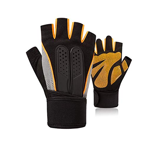 Handschuh Druck-Handgelenk-Bewegung Fitness halb Finger männlich und weiblich halb Finger Instrument Training Anti-Sprain gepolsterte