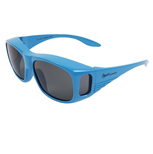 Rapid Eyewear Polarized UV Overglasses. Mens and Womens Blue Sunglasses That Fit Over Glasses for Driving, Running, Cycling etc. UV400 Protection