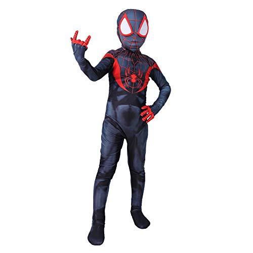 r Cosplay Kostüm Miles Morales Spiderman Rollenspiel Kleidung Kinder Body Spandex Jumpsuits Kostüm,Children-L ()