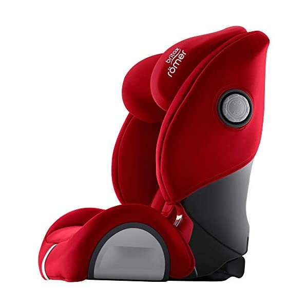 Britax Römer EVOLVA 1-2-3 SL SICT Group 1-2-3 (9-36kg) Car Seat - Fire Red  Installation, ISOFIX and a 3-point seat belt, or 3-point seat belt only Enhanced Side Impact Protection (SICT) minimises the force of an impact in a side collision CLICK & SAFE audible harness system for that extra reassurance when securing your child in the seat 7