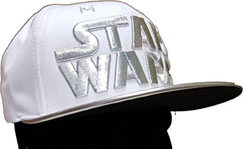 Casquette homme Star Wars blanche/argent avec Broderie argent