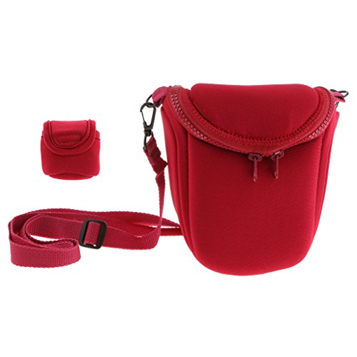 MagiDeal Shockproof Camera Case Bag for Sony LCS BBF NEXF3 NEX5R NEX5N NEX7 H9 for Nikon 1V1 1J1 J2 Red  available at amazon for Rs.990
