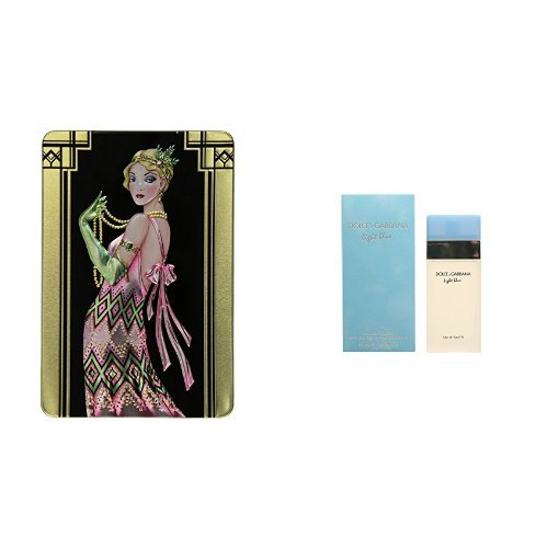 Price comparison product image Churchill's Belgian Chocolate Biscuits with Dolce and Gabbana Light Blue Eau de Toilette for Women