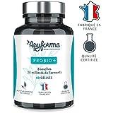 Probiotique Flore Intestinale Probio + • 47 milliards UFC par Gramme • 8 Souches • Complément Alimentaire 100% FRANÇAIS • 60 Gélules • Fabriqué et Conditionné en France par ApyForme